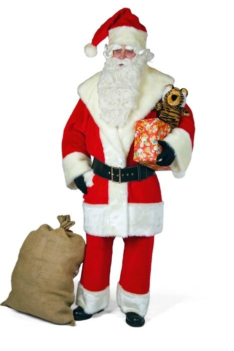 Weihnachtsmann-Anzug: Jacke, Hose, Mütze