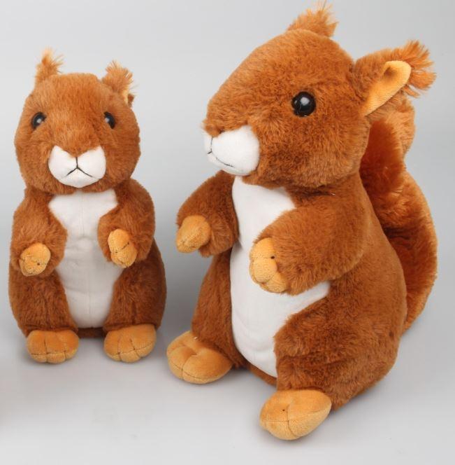 Eichhörnchen braun/weiß sitzend ca 20cm