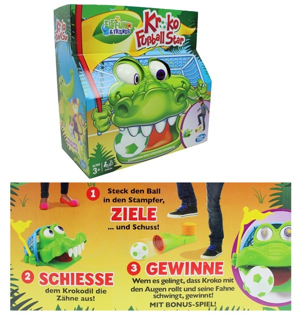 Hasbro Kroko Fußball Star - in Box ca 27x27x13,5cm