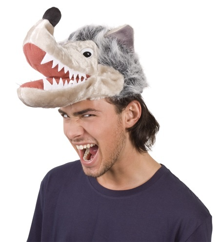 Hut - Plüschmütze Wolf