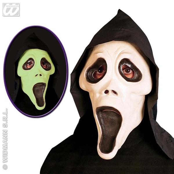 Maske - Geistermaske nachtleuchtend