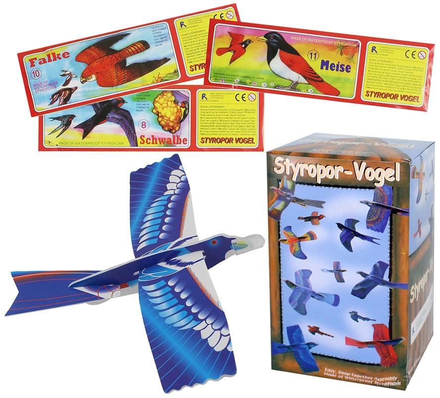 Styropor Vögel  ca 20cm