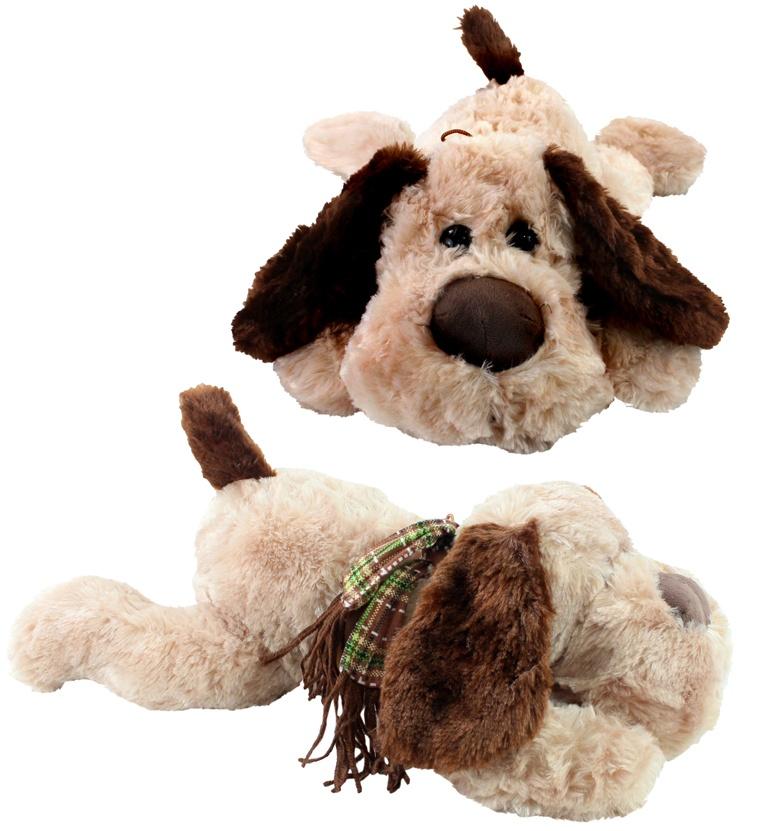 Hund superflauschig mit Glasaugen liegend ca 50 cm