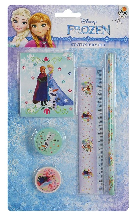 Schreibset Frozen 5 teilig auf Karte ca 26x15 cm