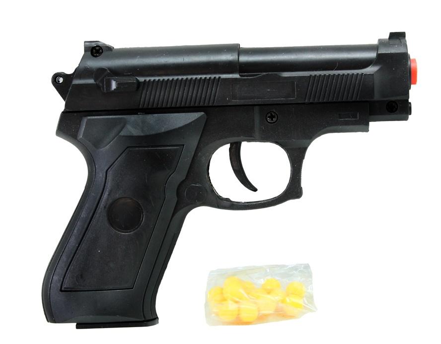 Kugelpistole mit Magazin 0,08 Joule im Beutel - ca 13 cm