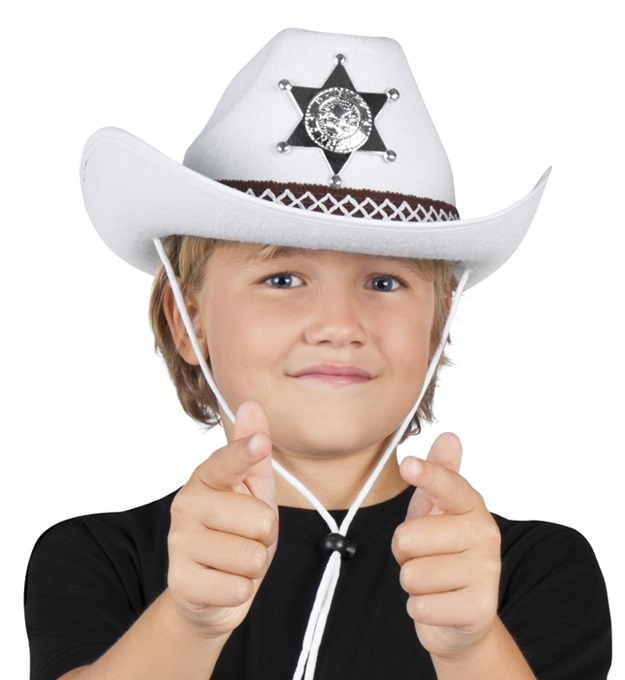 Cowboyhut Junior Sheriff weiß