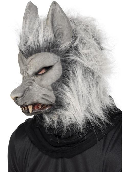 Maske - Werwolf mit Haar