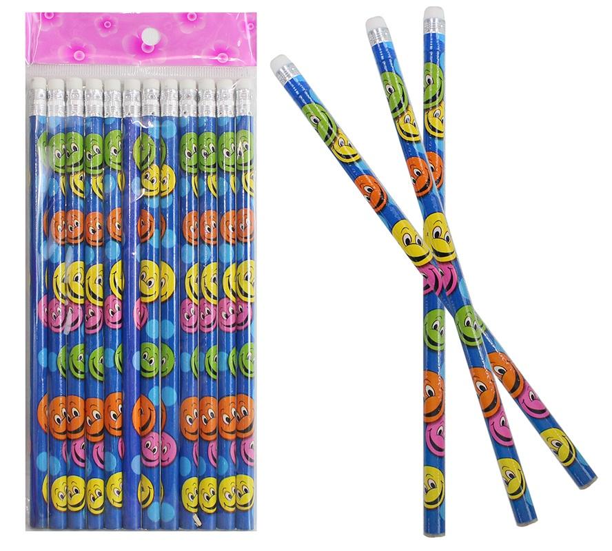 Bleistift lachendes Gesicht mit Radiergummi - ca 19cm