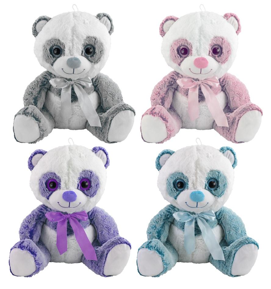 Panda Bär Brighty 4-fach sortiert - ca 30 cm