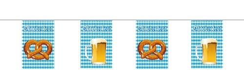 Wimpelkette Bayern Oktoberfest ca 10 meter