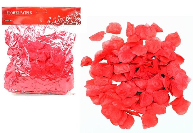 Rosenblätter aus Stoff rot 500 Stück im Beutel ca 27x24cm