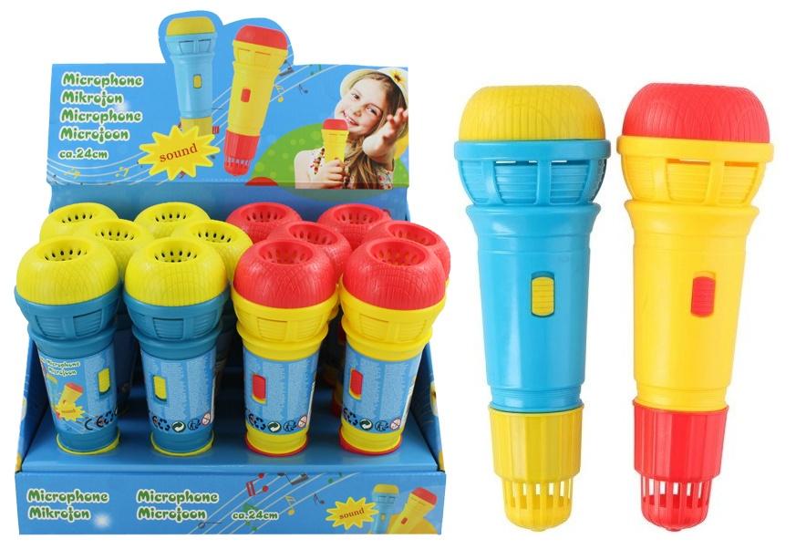 Mikrofon groß 2 Farben sortiert ca  24 cm