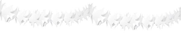 Girlande - Taube weiß/creme 6m