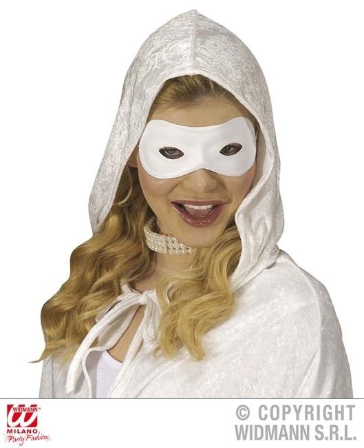 Augenmaske weiß  aus PVC  zum Anmalen