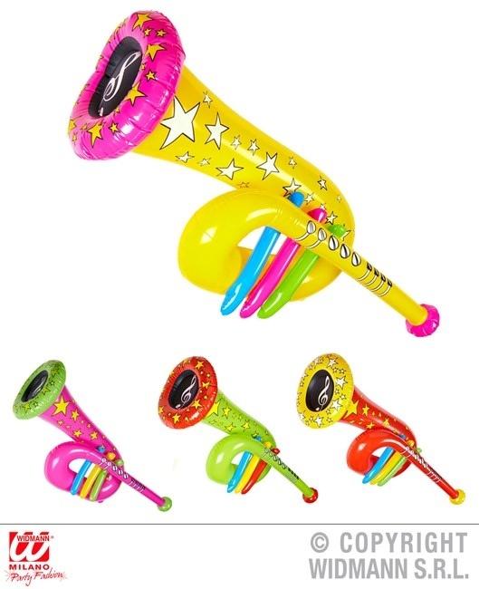 Tuba aufblasbar mit Pfeife 4-fach sortiert ca 63 cm