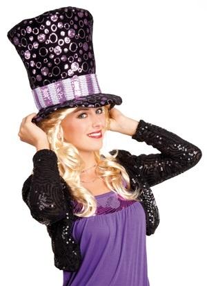 Hut - Lola schwarz/violett