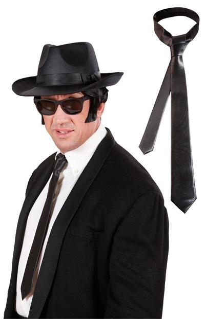 Krawatte - Blueskrawatte schwarz