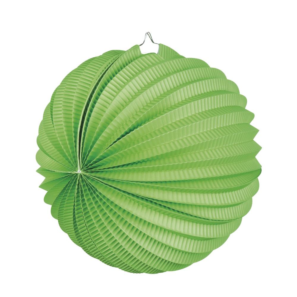 Ballonlaterne Papier grün ca 23 cm Ø