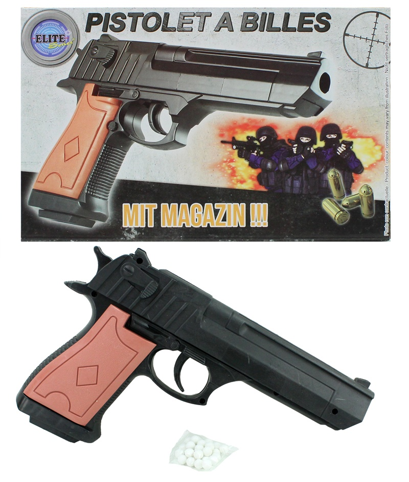 Kugelpistole mit Magazin 0,50 joule ca 21,5 cm