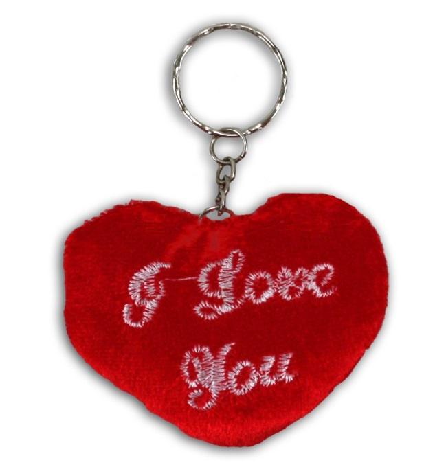 Herz an Schlüsselanhänger , I love you, - ca 8 cm