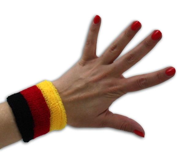 Schweißband in Deutschlandfarben ca 7x7,5cm