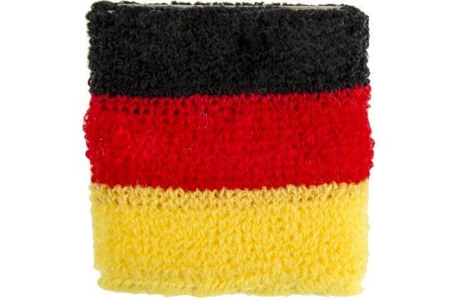 Schweißband in Deutschlandfarben ca 7x7cm