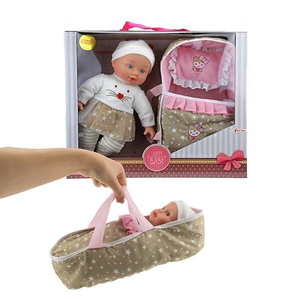 Babypuppe mit Schlafsack /Träger