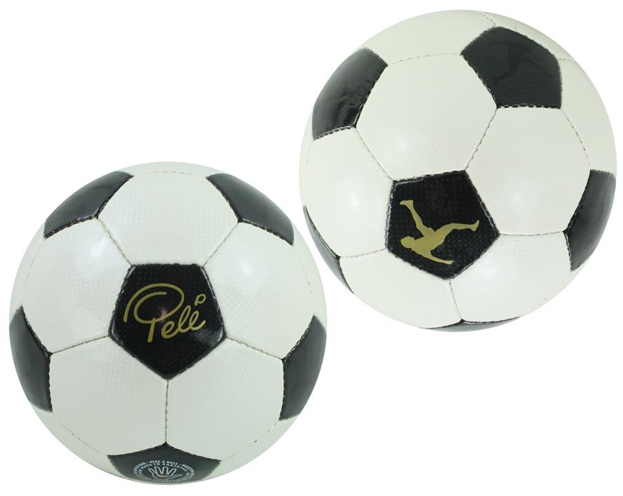 Fußball Pele weiß/schwarz handgenäht Größe 5