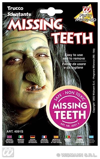 Make up - Zahnschwarz,Zahnlücke,Muttermal auf Karte ca 13x19
