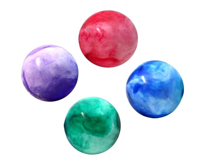 Ball - Aufblasball im Netz  marmoriert   sortiert - ca 10 cm