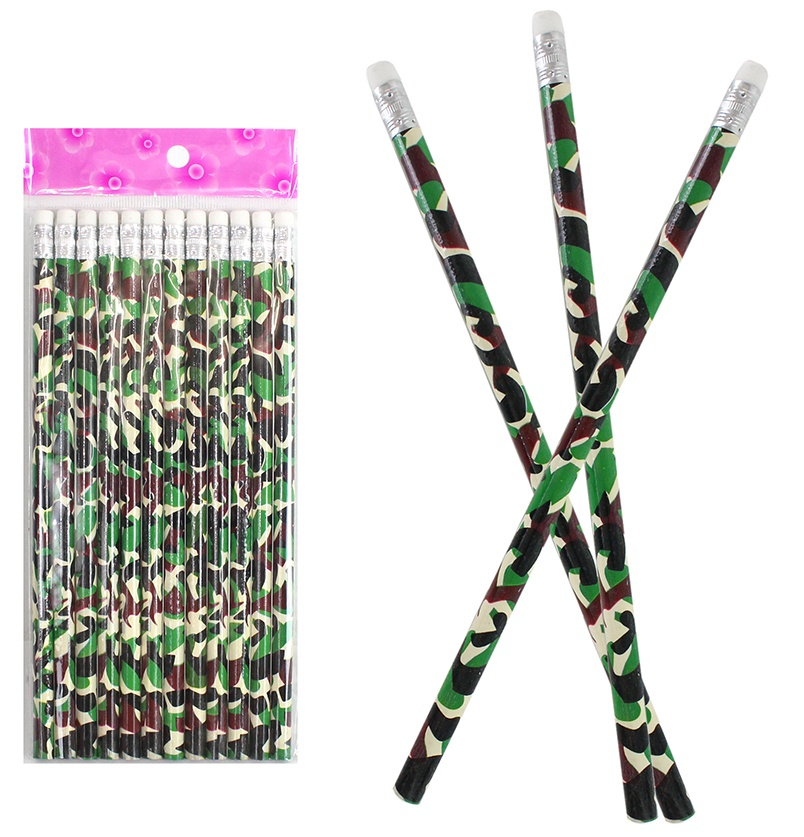 Bleistift Camouflage mit Radiergummi ca 19cm
