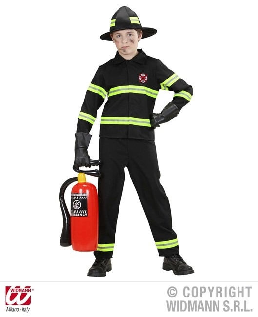 Feuerwehrkostüm  Größe 140 (Jacke, Hose, Helm)