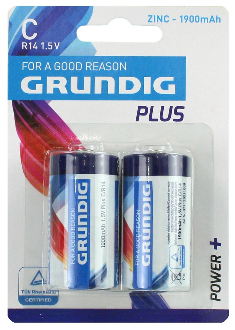 Batterie GRUNDIG  R14/C Baby auf Karte ca 12x8,5cm