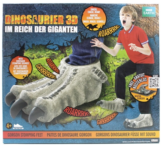 WWD Walking with Dinosaurs -Füße mit Sound- in Box ca 36x32c
