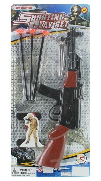Gewehr mit 3 Pfeilen auf Karte ca 46x21cm