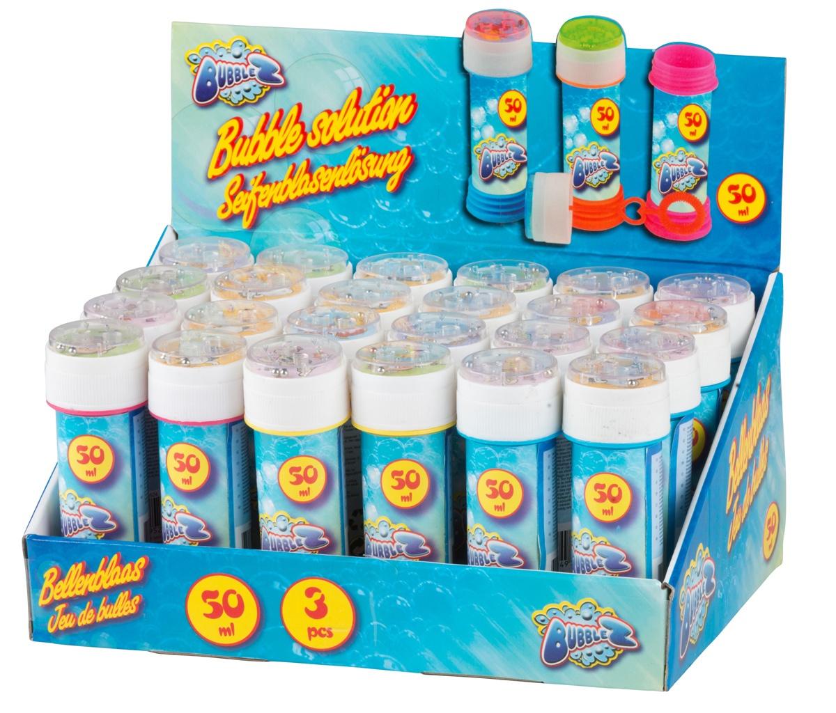 Seifenblasen 3 Farben sortiert mit Geduldspiel - ca 50 ml