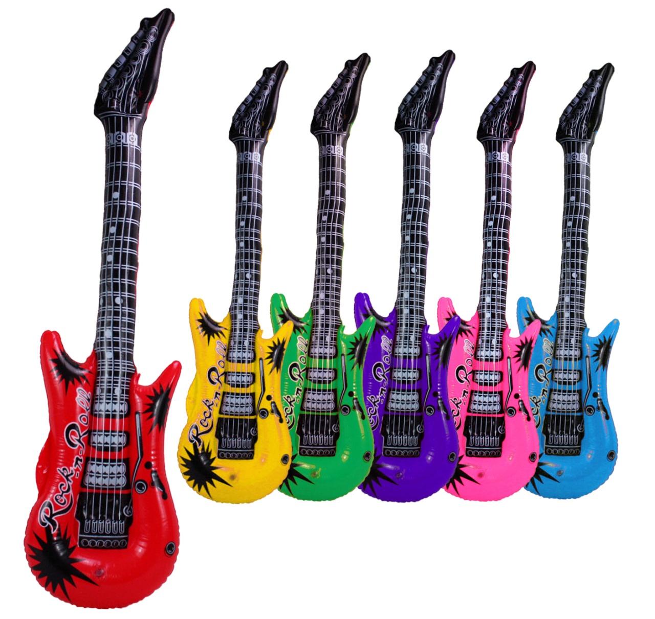 Gitarre aufblasbar 6-fach sortiert ca 100 cm