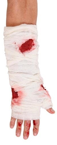 Verband - blutiger Armverband