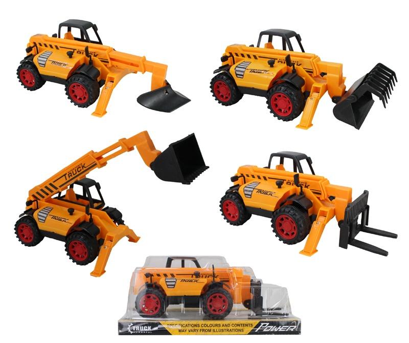 Baufahrzeuge 4-fach sortiert - im Blister ca 23x11,5x10cm