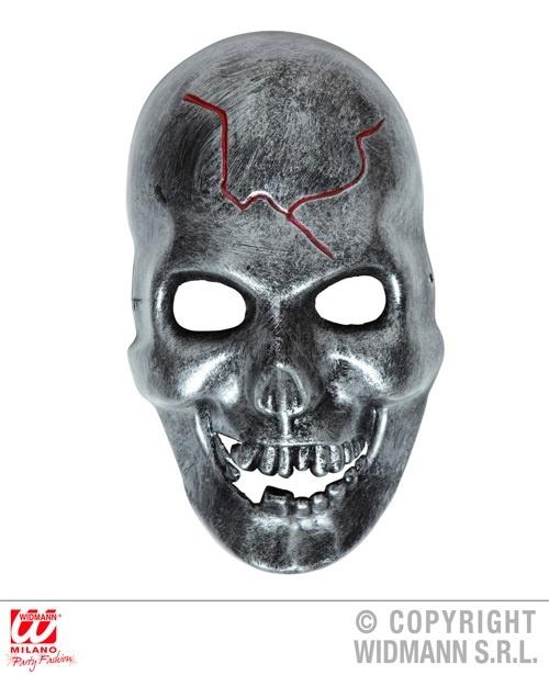 Totenkopfmaske Metalloptik