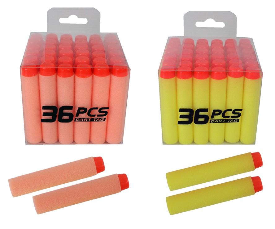 Softair Softpfeile Shooter Munition 2-farbig sort 36 Stück