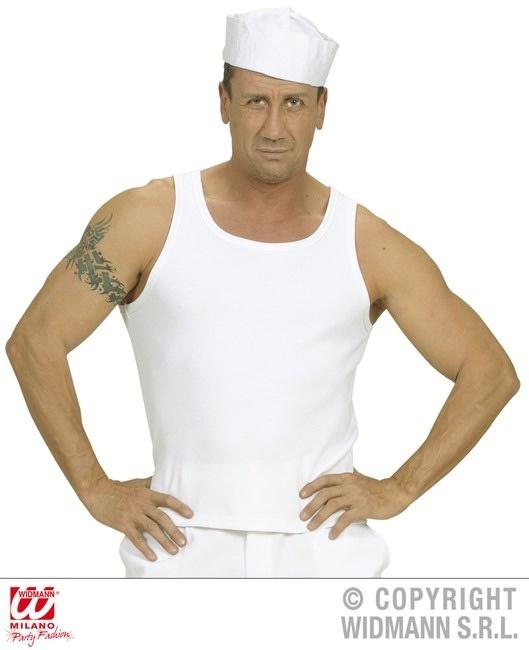 Shirt Achselhemd weiß Größe XL