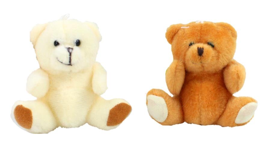 Bär sitzend  2 Farben sortiert ca 9 cm