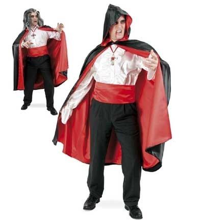 Kostüm - Cape schwarz/rot - XXL