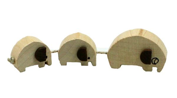 Holzelefanten Elefantenzug