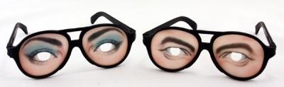 Brille - Scherzbrille  2-fach ca 16 x 5,5  cm