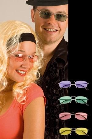 Brille - Partybrille Renee gelb UV400