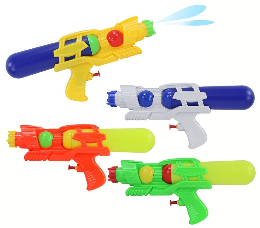 Wasserpistole 4-fach sortiert mit Tank ca 28 cm