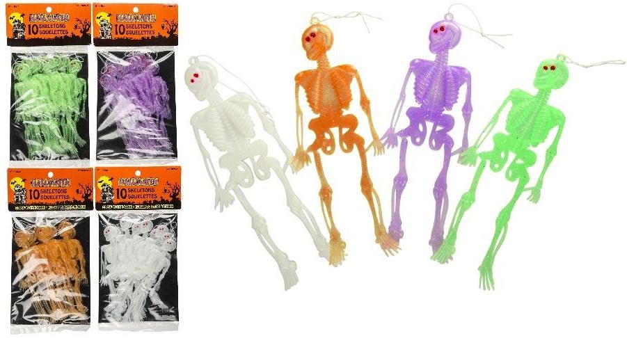 Skelett 4-fach sortiert 10 Stück im Beutel- ca 14,5 cm