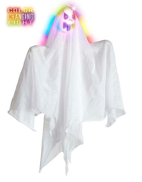 Geist - weiß hängend mit Lichtwechsel ca 50cm